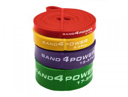 Комплект из 4 резиновых петель BanD4Power (нагрузка 3 - 54 кг)